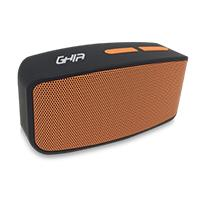 BOCINA BLUETOOTH WAVE GHIA NEGRA / NARANJA 3W RMS AUX 3.5MM /RADIO FM /MICRO SD CARD Y USB