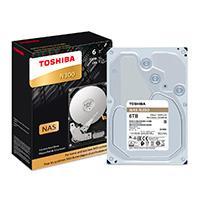 DD INTERNO TOSHIBA N300 3.5 6TB//SATA3//6GB/S//CACHE 128MB//7200 RPM//24X7 P/NAS/1-8 BAHIAS//EMPAQUE RETAIL