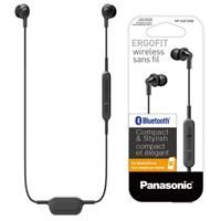 AUDIFONOS CON CONEXION BLUETOOTH TIPO INSERCION (IN-EAR) PANASONIC RP-HJE120BPK COLOR NEGRO, CON FUNCION MANOS LIBRES/MICROFONO, RECARGABLES, ULTRALIG