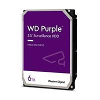 DD INTERNO WD PURPLE 3.5 6TB SATA3 6GB/S 64MB 24X7 PARA DVR Y NVR DE 1-16 BAHIAS Y 1-64 CAMARAS