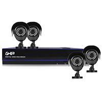 KIT GHIA DVR 8 CH PENTAHIBRIDO 1080P LITE/ HDMI/ VGA / 4 CAMARAS BALA METALICAS 720P / CONECTIVIDAD P2P / 4 ROLLOS DE CABLE 18.3 MTS / FUENTE DE PODER