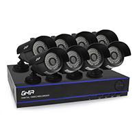 KIT GHIA DVR 8 CH PENTAHIBRIDO 1080P LITE/ HDMI/ VGA / 8 CAMARAS BALA METALICAS 720P / CONECTIVIDAD P2P /8 CABLES DE 18.3 MTS / FUENTE DE PODER