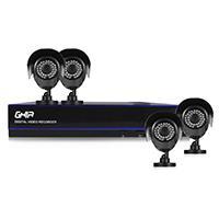 KIT GHIA DVR 4 CH PENTAHIBRIDO 1080N/ HDMI/ VGA 4 CAMARAS BALA METALICAS 720P / P2P ACCESORIOS