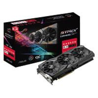 T. DE VIDEO ASUS PCIE X16 3.0 AMD ROG STRIX RX580 O8G GAMING / 8GB / GDDR5 / ESTANDAR / DVI+2HDMI+2D