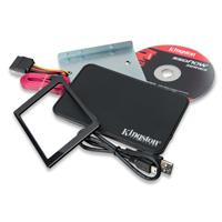 KIT DE INSTALACION SSD KINGSTON BRACKET 2.5 A 3.5 / CABLE SATA / CASE SSD EXT / CABLE USB / TORNILLO