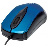 MOUSE USB OPTICO MANHATTAN 3 BOTONES CON RUEDA DE DESPLAZAMIENTO MODELO EDGE 1000 DPI COLOR AZUL