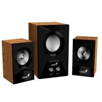 BOCINAS GENIUS 2.1 MOD SW-2.1 385 COLOR MADERA 15W CONEXION 3.5 A DISPOSITIVOS WINDOWS/MAC/ANDROID/REPRODUCTORES MP3