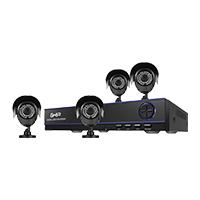 KIT GHIA DVR 8 CH PENTAHIBRIDO 1080P LITE / DISCO DURO 1TB/ HDMI / VGA / 4 CAMARAS BALA METALICAS 720P / CONECTIVIDAD P2P / 4 ROLLOS DE CABLE DE 18.3