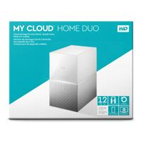 DD EXT ETHERNET 12TB WD MY CLOUD HOME DUO 3.5 / 2USB3.0 EXP / RAID / COPIA SEG AUTOM / CONTRASEÑA /