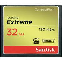 MEMORIA SANDISK 32GB COMPACTFLASH EXTREM 120 / 85MBS VPG-20 SANDISK SDCFXSB-032G-G46