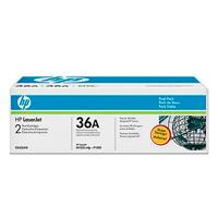DUAL PACK TONER HP CB436AD NEGRO 36A, RENDIMIENTO 2 X 2,500 PAG. 2/C