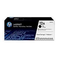 DUAL PACK DE TONER HP NEGRO 12A - 2 X 2,000 PAGINAS HP Q2612AD