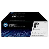 DUAL PACK DE TONER HP NEGRO 85A PARA LASERJET P1102P1102WM1132M1212 M1214 M1217- 2 X 1600 PAG HP CE2