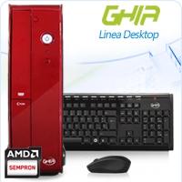 GHIA DESKTOP AMD KABINI 3850 X4 1.3 GHZ/2GB/500GB/DVD+RW/LM6-1/SFF-ROJO