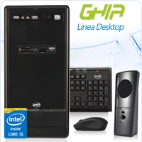 GHIA DESKTOP CORE I5 4460 3.2 GHZ/4GB/1TB/DVD+RW/LM21-1/MT-NEGRO