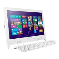 IDEACENTRE AIO C260 CELERON DC J1800 2.41GHZ/ 4GB/ 1TB/ 19.5/DVDRW/WIFI/WDMI OUT/WIN 8.1 BING/BLANCA