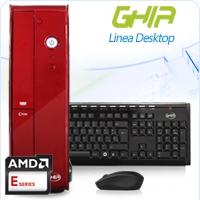 GHIA DESKTOP AMD KABINI E1-2100 X2 1.0 GHZ/2GB/500GB/DVD+RW/LM 6 EN 1/SFF-R/W10SL E