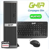 GHIA COMPAGNO SLIM AMD KABINI 3850 X4 1.3 GHZ/4GB/500GB/DVD+RW/LM/SFF-N
