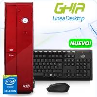GHIA DESKTOP CELERON QUAD CORE J1900 1.99-2.4 GHZ/4GB/500GB/DVD+RW/LM6-1/SFF-R