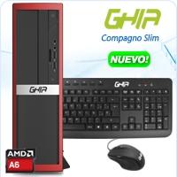 GHIA COMPAGNO SLIM AMD A6-6400K DUAL CORE 3.9GHZ - 4.1GHZ/4GB/1TB/DVD+RW/LM/SFF-R