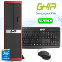 GHIA COMPAGNO SLIM CELERON QUAD CORE N3150 1.6-2.08 GHZ/4GB/500GB/DVD+RW/LM/SFF-R