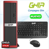 GHIA COMPAGNO SLIM AMD ATHLON 5150 QUAD CORE 1.6/4GB/500GB/DVD+RW/LM/SFF-R
