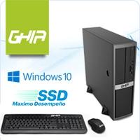 GHIA COMPAGNO SLIM / INTEL PENTIUM G4400 DUAL CORE 3.30 GHZ / 4 GB / SSD 32 GB / SFF-N / WINDOWS 10 HOME