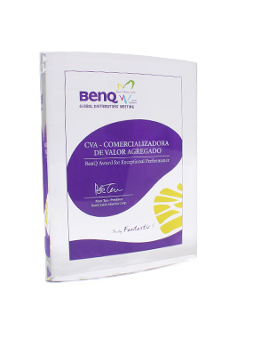 Reconocimiento 'BenQ Award for exceptional Performance'
